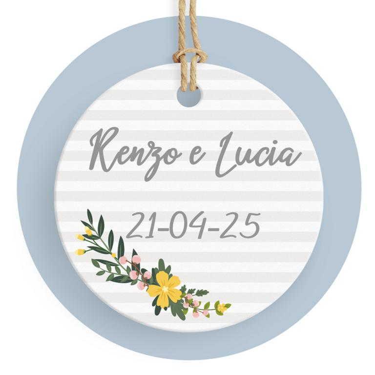 Tag con fiori gialli cod. FFTAG0013