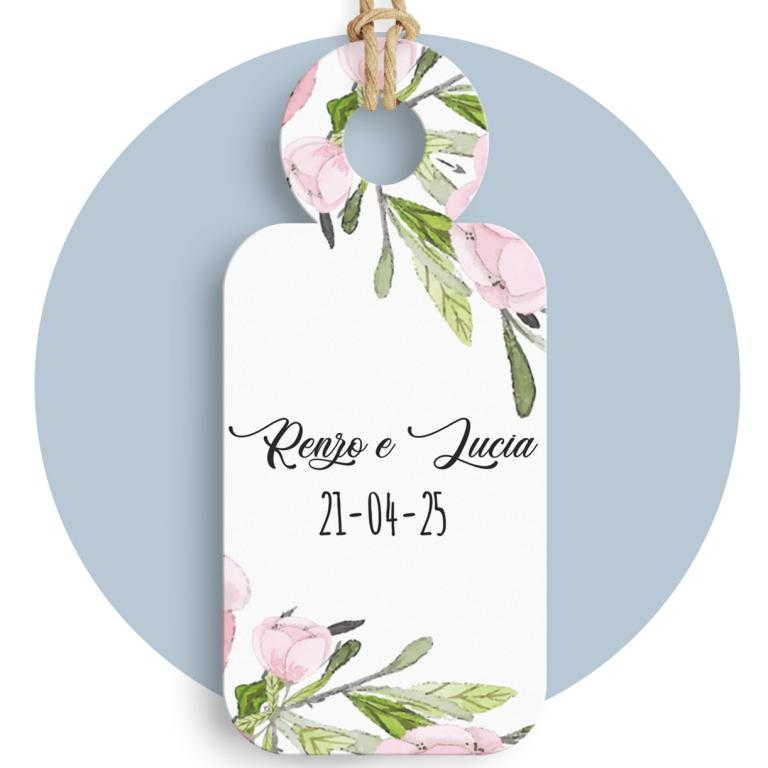Tag con stampa fiori cod. FFTAG0027