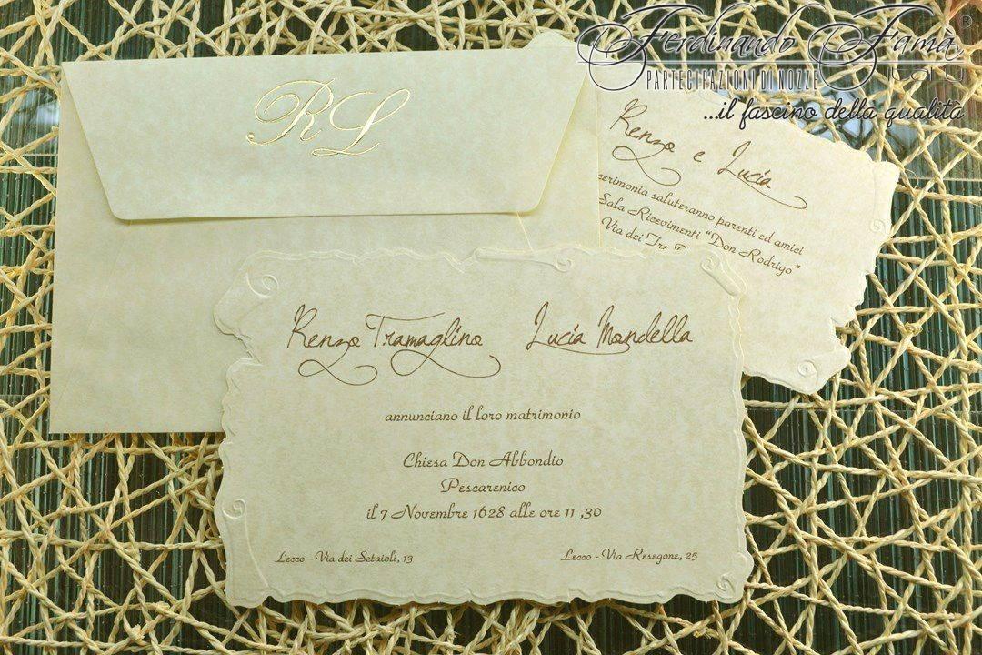 Partecipazioni Matrimonio Pergamena.Partecipazioni Di Nozze A Pergamena Sagomata A Rilievo