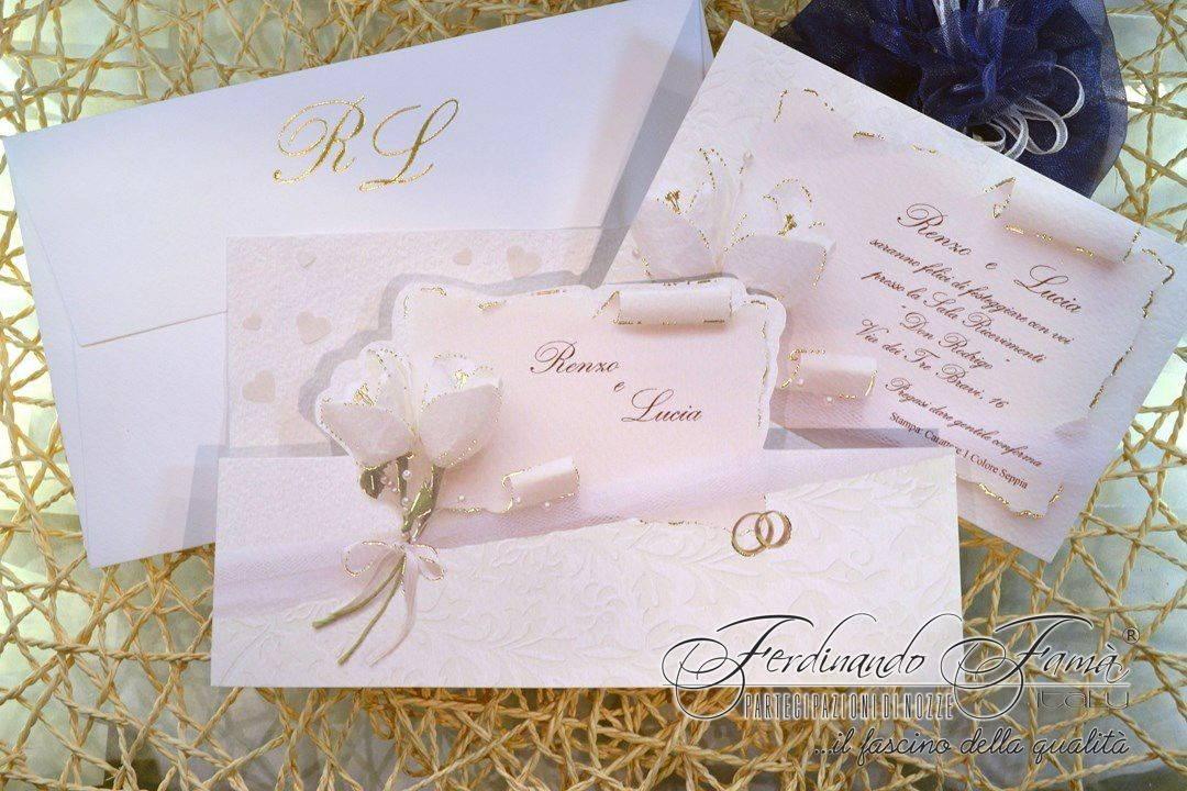 Pergamena Matrimonio Simbolico : Partecipazioni di nozze con pergamena nomi fedi e rose