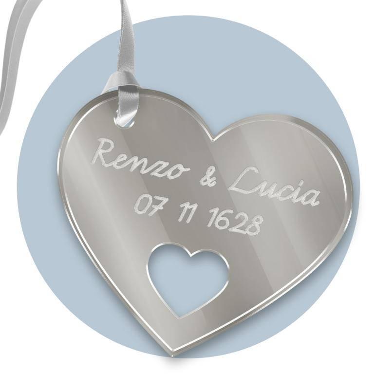 Tag personalizzato in plexiglass argento inciso e Tag personalizzato al laser del modello FFTag personalizzatoPLEX5ARGENTO