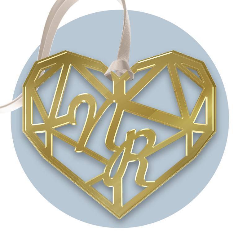 Tag personalizzato in plexiglass oro inciso e Tag personalizzato al laser del modello FFTag personalizzatoPLEX10ORO