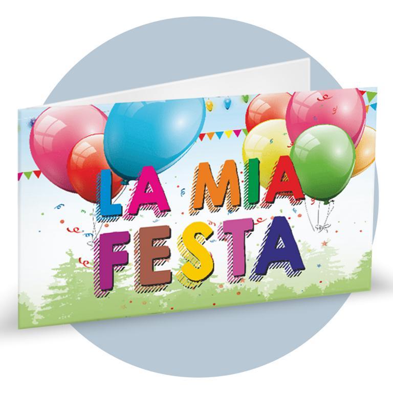 Bigliettino Bomboniere compleanno con palloncini cod. BFF5025